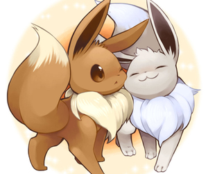 pokemon, eevee, and shiny image