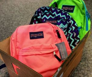 bags, jansport, and backpack image