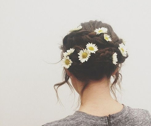 flower, hipster, and flowers image