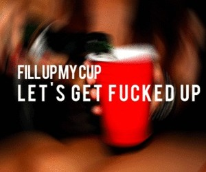 club, red cups, and drunk image