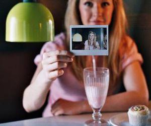 Ellie Goulding, strawberry, and milkshake image