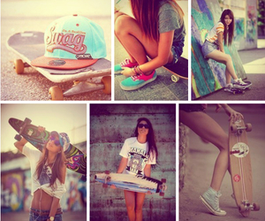 girl, skate, and nice image