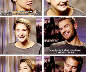 divergent, theo james, and tris image
