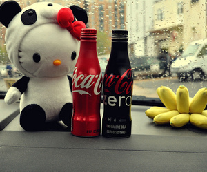 coca cola, hello kitty, and coke image