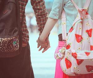 couple, boy, and bag image