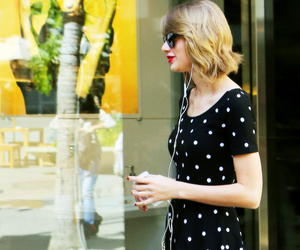 red, Swift, and Taylor Swift image