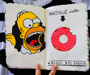 book, donut, and homer image