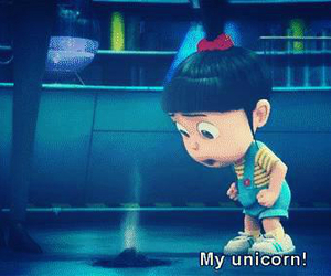 unicorn, despicable me, and minions image