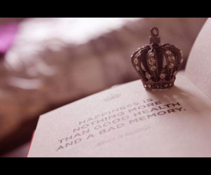 book, crown, and girly things image