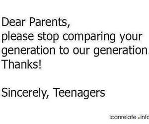 parents, teenager, and quote image