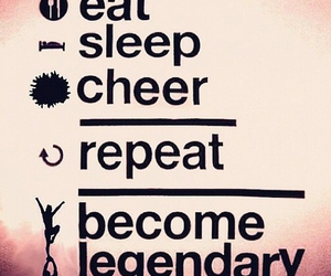 cheer, cheerleader, and eat image