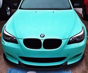 car, bmw, and blue image
