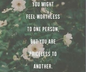 quote, flowers, and priceless image