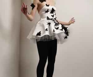 dress, girl, and levitation image