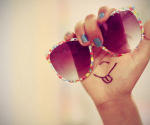 smile, sunglasses, and glasses image