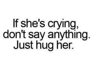 cry, hug, and quotes image