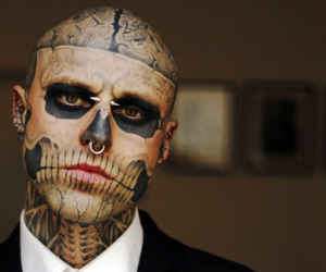 tattoo, zombie boy, and rick genest image
