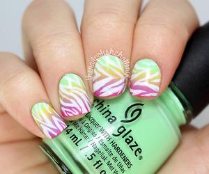 colourful, green, and nail polish image