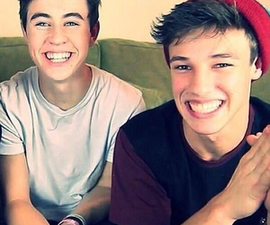 nash grier, cameron dallas, and smile image