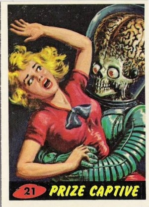 mars attacks and retro image