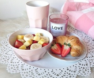 food, pink, and breakfast image