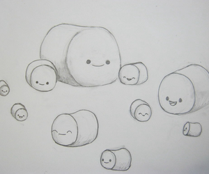 baby, so cute, and marshmallows image