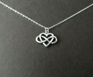 infinity, necklace, and love image