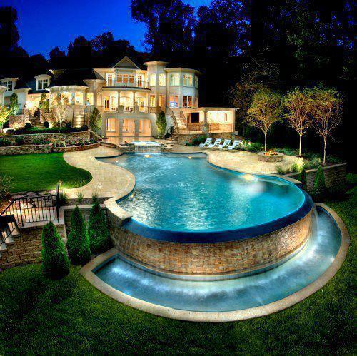 45 images about houses on we heart it see more about house luxury and home - Big Mansions With Pools