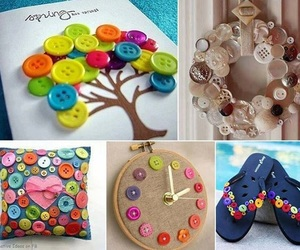 buttons, diy, and creative image