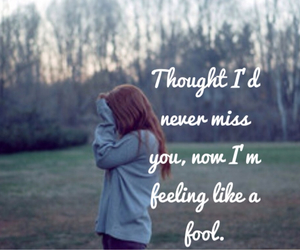 i miss you, never, and i thought image