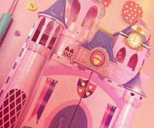 castle, pink, and prinsess image