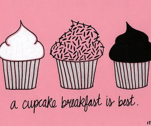 cupcake, pink, and breakfast image