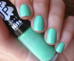 green, nail polish, and nails image