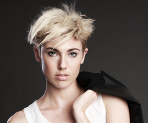 androgynous, girl, and short hair image
