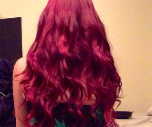colorful, red, and curlyhair image