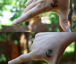 alternative, anchor, and tattoo image