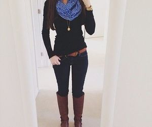 boots, classy, and dress image