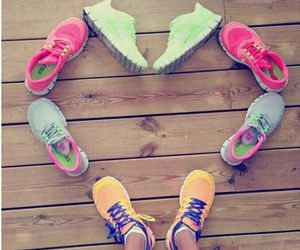 nike, shoes, and heart image