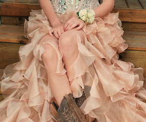 dress, boots, and country image