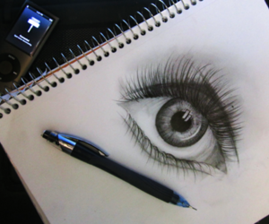 anime, black and white, and eyes image