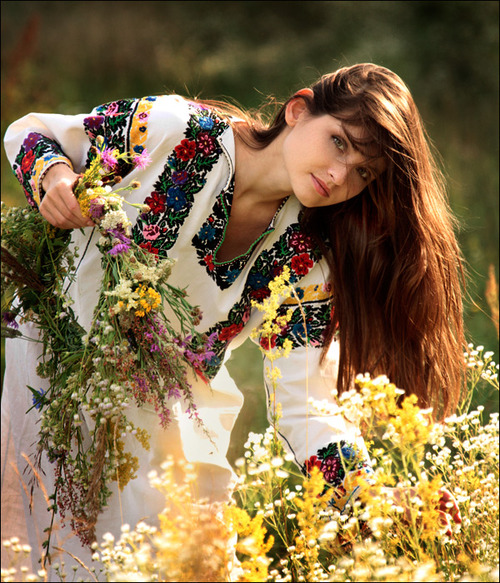 girl, flowers, and ukraine image
