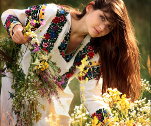 girl, flowers, and ukraine image