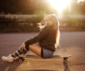 girl, fashion, and skatergirl image