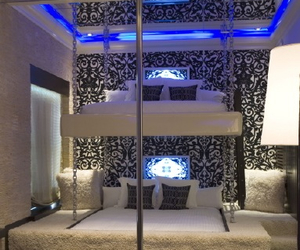 bedroom, bunk bed, and classy image