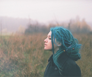 blue, dreads, and hair image
