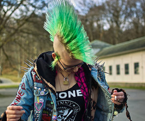 punk, ramones, and green hair image