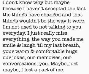 quotes, broken, and i miss you image