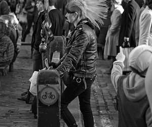 anarchy, Mohawk, and punk image
