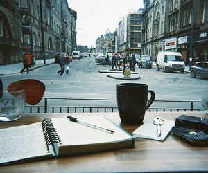 coffee, city, and book image