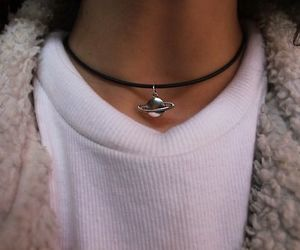 grunge, necklace, and planet image